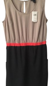 Banana Republic short dress Black, Beige, Coral on Tradesy