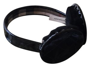 Burberry Burberry Quilted Black Patent Earmuffs