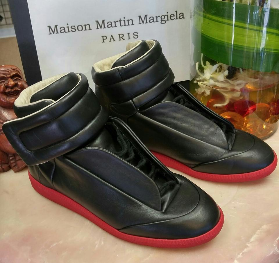 df00ef73b40 Maison Margiela Black Body/Red Sole 22 Future -red Leather Hi-top 41 (Mens  8) Sneakers Size US 8 Regular (M, B) 48% off retail