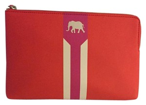 Stella & Dot Coral And White Clutch