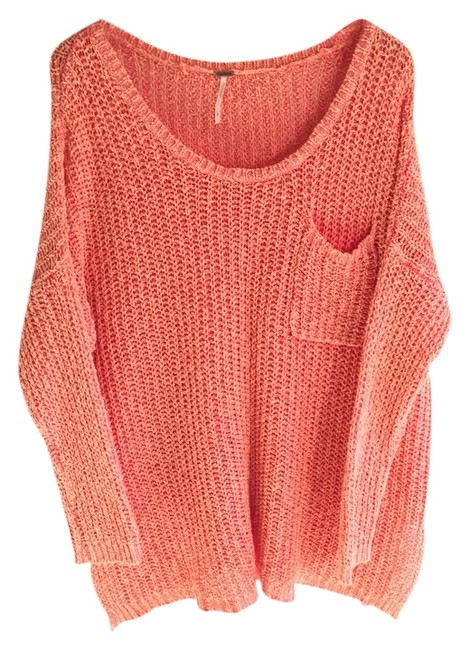 Preload https://item2.tradesy.com/images/free-people-coral-sweaterpullover-size-12-l-1604126-0-0.jpg?width=400&height=650