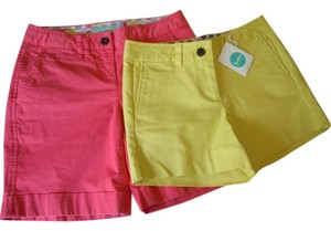 Boden Yellow Pink Dress Shorts yellow coral