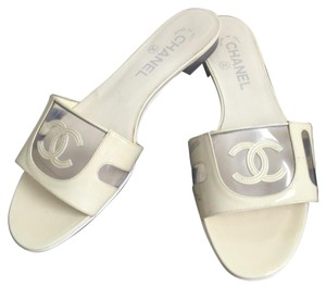 Chanel Cream and clear Sandals