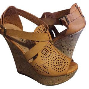 Charming Charlie Tan/Light Brown Wedges