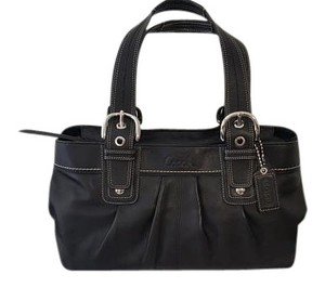Coach Soho Pleated Leather Leather Tote in black