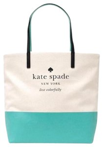 Kate Spade Shoulder Tote in Giverny Blue