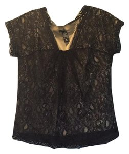 New York & Company Top Black and tan