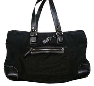 Coach Purse Vintage Tote in Black/Jet black/Taupe