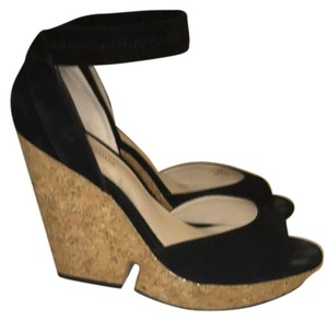 Pelle Moda Black Wedges