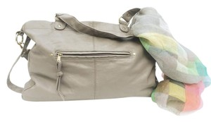 H&M Silk Interior Zipper Pockets Classy Grey Travel Bag