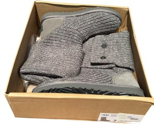 UGG Australia 5819 Classic Cardy Logo Tall Gray Boots