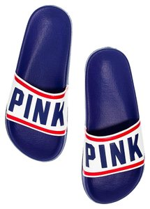 Victoria's Secret Pink Vs Red White Blue Sandals