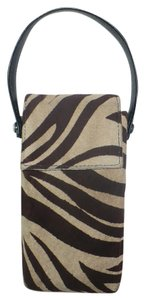 Poppie Jones POPPIE Suede Zebra Print Leather Wristlet