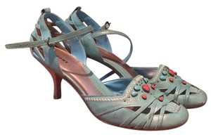 Bronx Turquoise Pumps