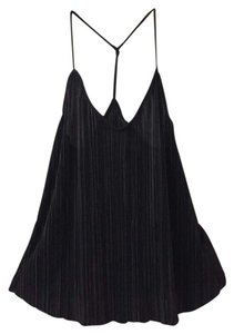 Topshop Night Out Pleated Stretchy Top Black