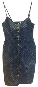 COPE short dress Dark Blue Cut Out on Tradesy