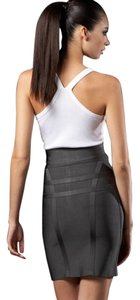 Hervé Leger Bandage Dress Mini Skirt Dusk Grey