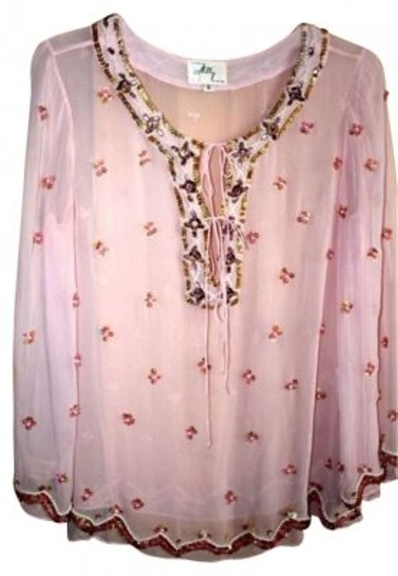 Preload https://img-static.tradesy.com/item/160460/milly-pink-vintage-beads-blouse-size-6-s-0-0-650-650.jpg