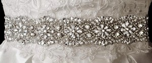 Rhinestone And Pearl Beaded Wedding Dress Belt Sash