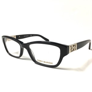 Tory Burch Tory Burch Black Silver Eyeglasses Optical Frame