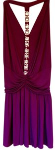 Moda International T Strap Rhinestone Dress