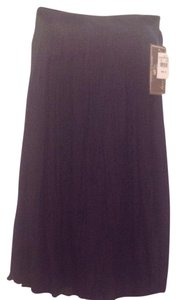 Jane Ashley Broomstick Nwt Cotton Maxi Skirt Black