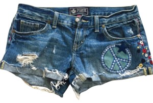 PINK Cut Off Shorts Blue