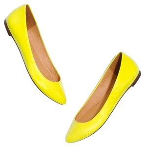 Madewell Patent Leather Icon Chic Yellow Flats
