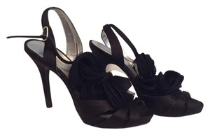 Audrey Brooke Platform Heel Flower Detail Black Formal