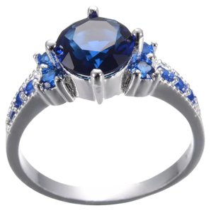 Other Blue Sapphire SP Ring
