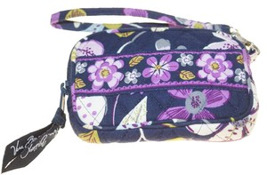 Vera Bradley Vera Bradley Purple Nightingale Flower Small Wristlet Wallet 5.5x4