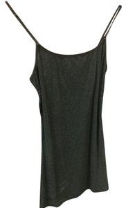 Ambiance Apparel Scoop Neck Top Dark Heather Grey