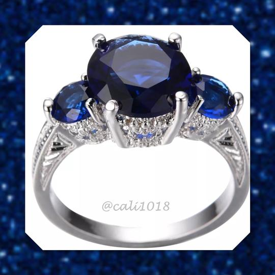 Other Blue Sapphire White Gold Filled Ring 9 Image 1