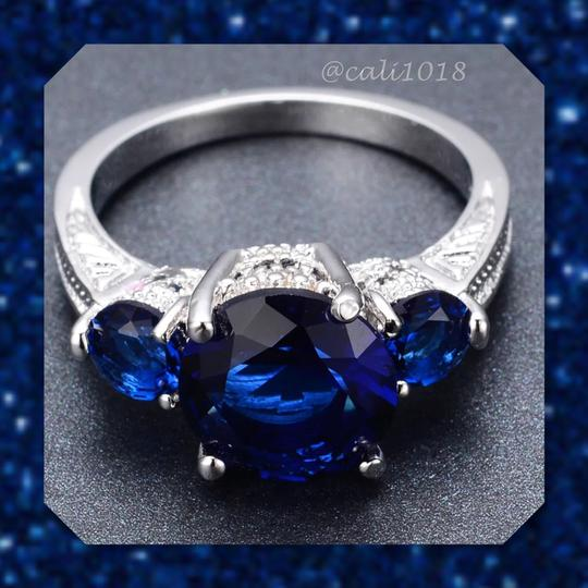 Other Blue Sapphire White Gold Filled Ring 9 Image 2