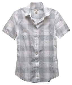 J.Crew Button Down Shirt Gray & White