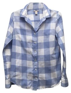 Plaid Button Down Button Down Shirt Blue