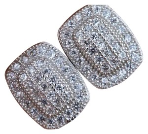 Micro Pave Sterling Silver Stud Earrings