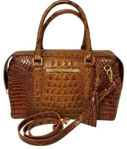 Brahmin Satchel in Toasted Almond-Browns