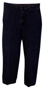 Stretch Riders Capri/Cropped Denim-Dark Rinse