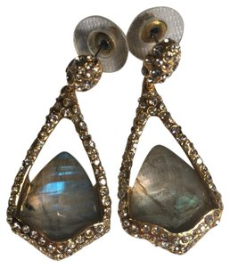 Alexis Bittar Miss Havisham Suspended Labradorite Dangle Earrings