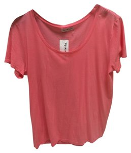 Michael Stars Oversized Scoop Neck T Shirt Salmon