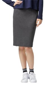 Uniqlo Ponte Stretchy Pencil Skirt Dark Gray