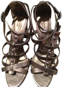 Vera Wang Metallic Pewter Platforms