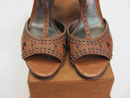 Antonio Melani Leather Upper Size 8.00 M Leather Soles New Excellent Condition Brown, Sandals Image 3