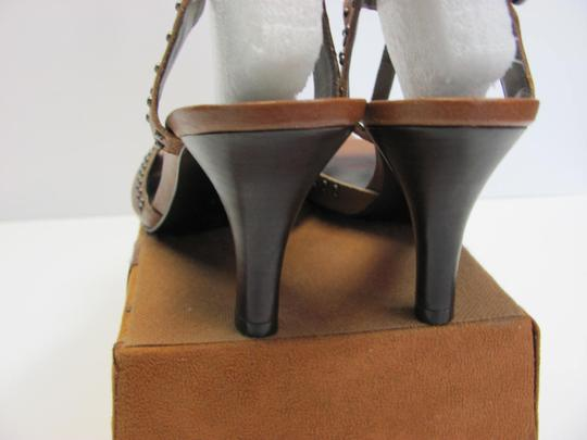 Antonio Melani Leather Upper Size 8.00 M Leather Soles New Excellent Condition Brown, Sandals Image 4