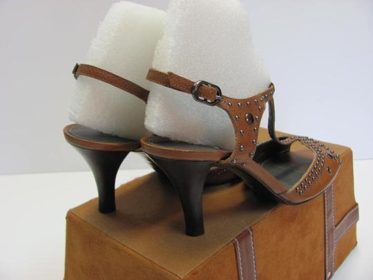 Antonio Melani Leather Upper Size 8.00 M Leather Soles New Excellent Condition Brown, Sandals Image 5