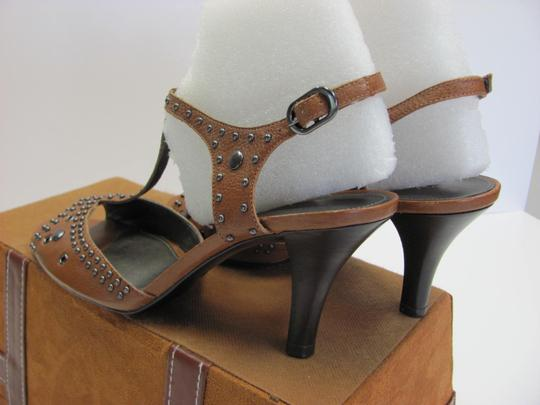 Antonio Melani Leather Upper Size 8.00 M Leather Soles New Excellent Condition Brown, Sandals Image 6