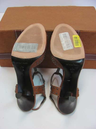 Antonio Melani Leather Upper Size 8.00 M Leather Soles New Excellent Condition Brown, Sandals Image 7