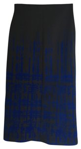 Clover Canyon Skirt black with cobalt flocking