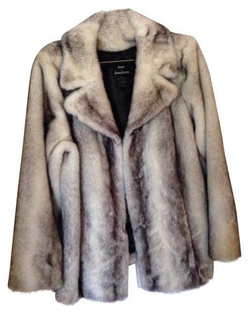 Item - White / Gray Faux Coat Size 16 (XL, Plus 0x)
